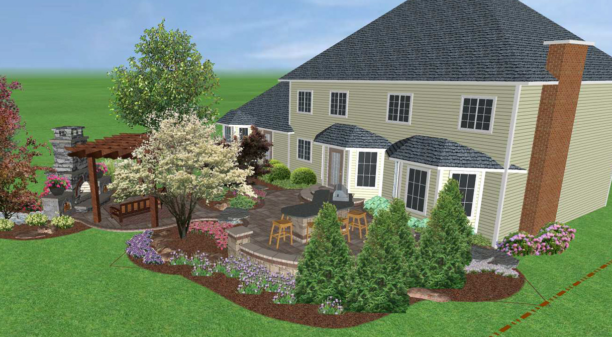 Landscaping design software landscape creations for 3d garden designs