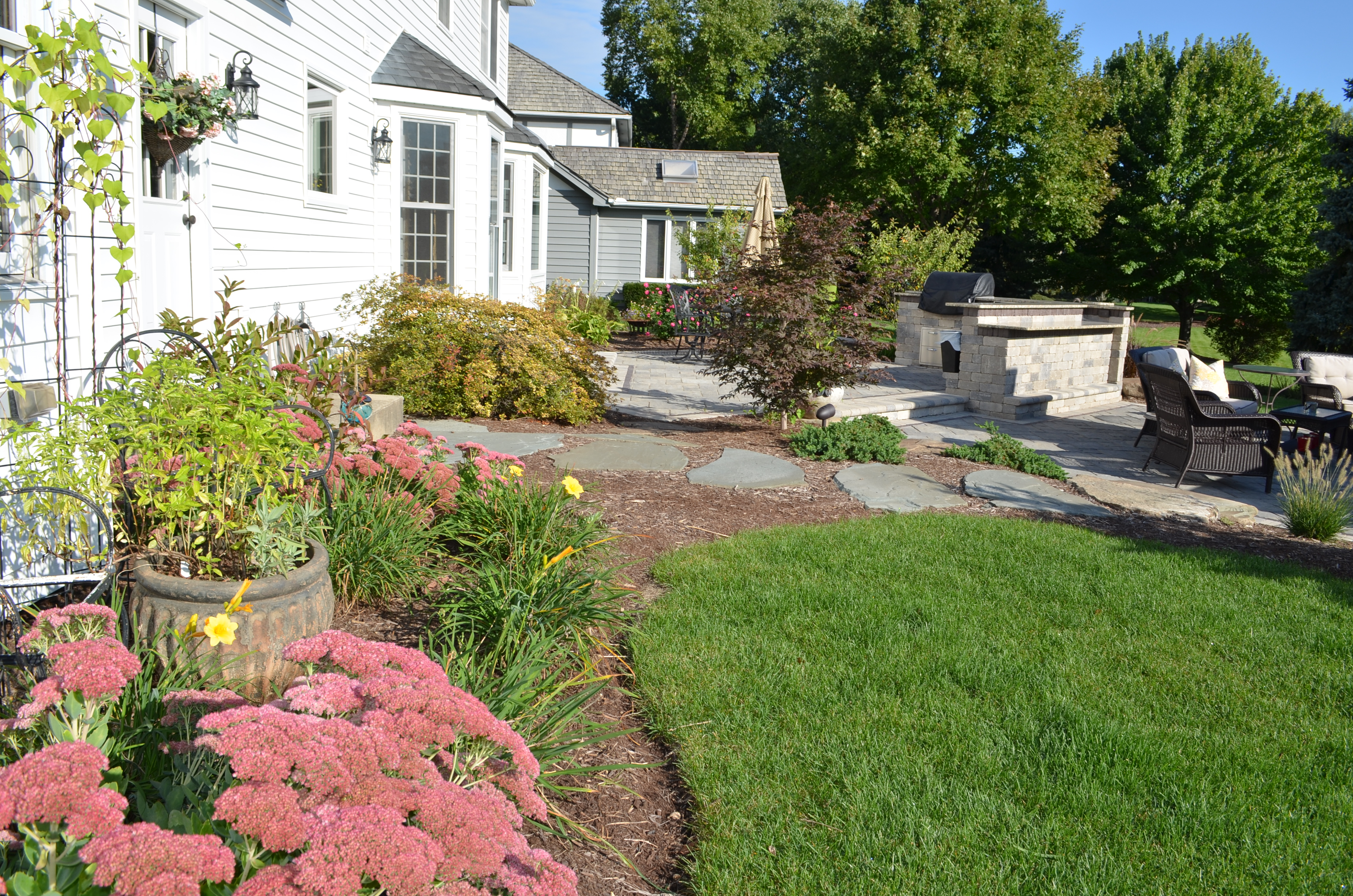 Backyard Landscaping Tips | Simple Tips for Low ... on Low Maintenance Back Garden Ideas id=58796